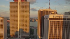 Miami Drone In Between Buildings in Downtown Stock Footage