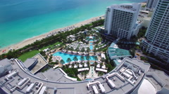Aerial video Fontainebleau Hotel 3 Stock Footage