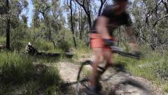 Mountain Biking Track in HD Stock Footage