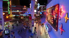 Fremont Street Experience From Above - stock footage