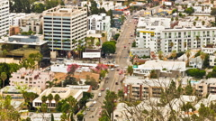 La Brea Avenue in Hollywood, Los Angeles, California Day Timelapse Stock Footage