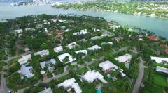 Luxury mansions on La Gorce Island Stock Footage