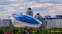 "Scientific research complex ""Nazarbayev Center"" in Astana Stock Footage"