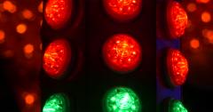 Luna park disco lights - stock footage