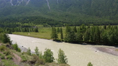 Beautiful views of river Chuya and Chuysky Trakt Stock Footage