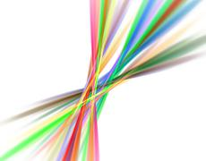 3d abstract fractal illustration for creative design - stock illustration