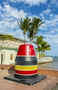 Southernmost Point marker, Key West,  USA - stock photo