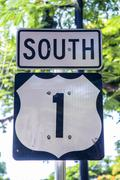 Stock Photo of HWY 1 on Key West, Florida south