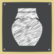 Vector color flat homemade jam bottle template Stock Illustration