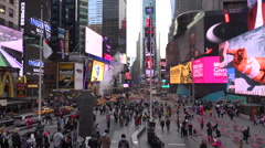 Crowded streets in Times Square, New York City. Stock Footage
