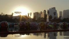 MacArthur Park at Sunrise 01 Stock Footage