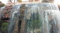 Waterfall in Nice, France Stock Footage