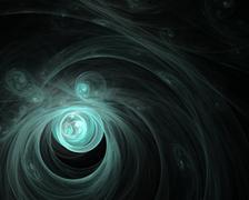 Abstract fractal design. Cosmic nebula on black. - stock illustration