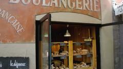 French boulangerie Stock Footage