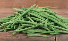 Heap of fresh green beans Stock Photos