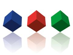 Color cubes - stock illustration