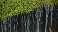Ultra Close-up Shot of the Unique Bigar Waterfall in Romania Stock Footage