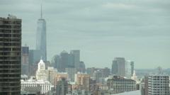 Lower Manhattan skyline time lapse, NYC - stock footage