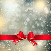 Stock Illustration of Christmas background with red bow. EPS 10