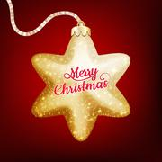 Christmas decoration with golden star. EPS 10 Stock Illustration