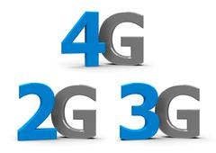 2G 3G 4G icons Stock Photos