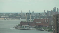 Stock Video Footage of Fast motion of FDR Drive, East River and Williamsburg Bridge in NYC