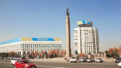 Almaty Republick Square Stock Footage