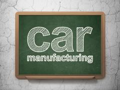Manufacuring concept: Car Manufacturing on chalkboard background Piirros