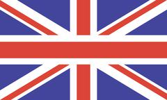 National flag of the United Kingdom of Great Britain Stock Illustration