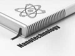 Science concept: book Molecule, Nanotechnology on white background Stock Illustration