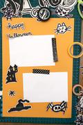 Halloween Scrapbook layout Stock Photos