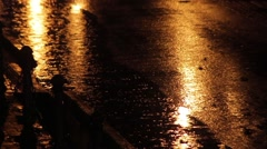 Drops of rain in the night 02 Stock Footage
