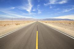 Endless country highway in Death Valley, travel concept, USA. - stock photo