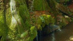 Static Middle Shot of the Unique Bigar Waterfall in Romania Stock Footage