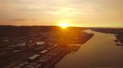 Aerial Oregon Portland Stock Footage