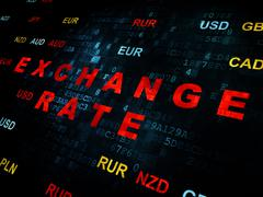 Stock Illustration of Currency concept: Exchange Rate on Digital background