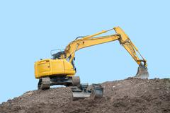 Stock Photo of yellow digger