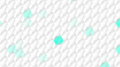 Animated white squares background element - stock footage