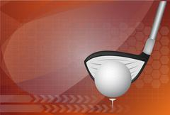 Golf background ,Vector - stock illustration