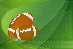 Background of American Football and rugby sports. Vector Illustration. - stock illustration