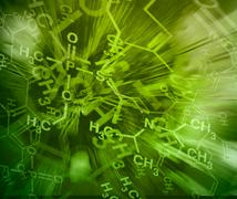 Image of chemical technology abstract background. Science wallpaper with scho - stock illustration