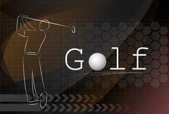 Golf background ,Vector Stock Illustration