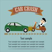 Car Crash Vector Illustration EPS10 - stock illustration