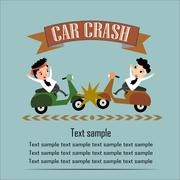 Motorcycle Accident Vector Illustration Stock Illustration
