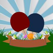 Table tennis and ping pong, vector illustration Piirros