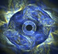 3d abstract fractal illustration background for creative design - stock illustration
