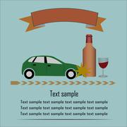 Drunk drive - stock illustration