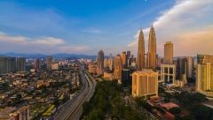 Kuala Lumpur Sunset Timelapse Stock Footage