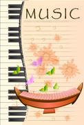 Xylophone, Musical background Stock Illustration