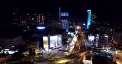 Airview of Skyscrapers in Istanbul Turkey - stock footage